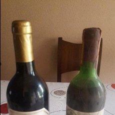 Botellas antiguas: DOS BOTELLAS DE VINO ANTIGUAS. Lote 91638030