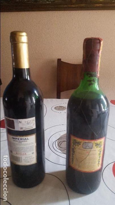 Botellas antiguas: DOS BOTELLAS DE VINO ANTIGUAS - Foto 2 - 91638030