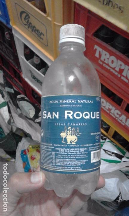 ANTIGUA BOTELLA DESCATALOGADA PLASTICO AGUA GASEOSA SAN ROQUE ETIQUETA LAS PALMAS GRAN CANARIA (Coleccionismo - Botellas y Bebidas - Botellas Antiguas)