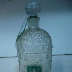 Botellas antiguas: GUERLAIN EAU DE COLOGNE BOTLLE MADE IN FRANCE 30 CM X 12 CM. Lote 93366755