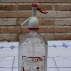 Botellas antiguas: SIFON - ESPUMOSOS DULCINEA - ARANJUEZ - MADRID - QUIJOTE.. Lote 93390820