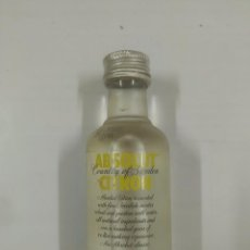 Botellas antiguas: BOTELLA EN MINIATURA. ABSOLUT VODKA CITRON. COUNTRY OF SWEDEN. PB27. Lote 94122985