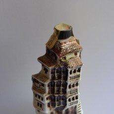 Botellas antiguas: BOTELLA CERÁMICA RISOL ORTEGA LICOR CASAS COLGANTES CUENCA VINTAGE. Lote 94300258