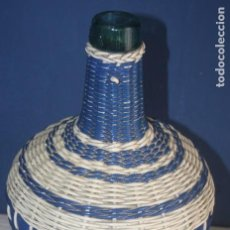 Botellas antiguas: ANTIGUO GARRAFÓN - DAMAJUANA FORRADO EN PLÁSTICO TRENZADO - VIRESA. Lote 94427246
