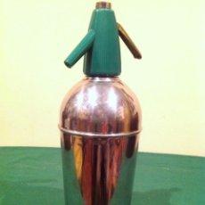 Botellas antiguas: SIFÓN VINTAGE ACERO INOXIDABLE MEDIADOS SIGLO XX. Lote 95834211