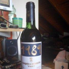 Botellas antiguas: RIOJA MARQUÉS DE MURRIETA YGAY - RESERVA ESPECIAL 1989. Lote 96223567