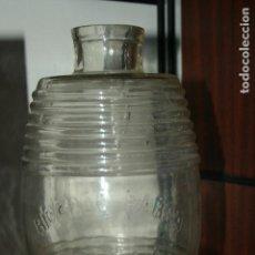 Botellas antiguas: SEVILLA.TARRO DE ACEITUNAS RICARDO BAREA. C Y C PUERTO DE SANTA MARÍA. 22 X 14 CMS.. Lote 96700371