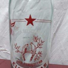 Botellas antiguas: BOTELLA GASEOSA LOS PERIQUITOS. ELOY RIVAS. AMPUERO. Lote 97093279