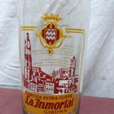 Botellas antiguas: BOTELLA GASEOSA 1 L. LA INMORTAL. GIRONA. Lote 97387983