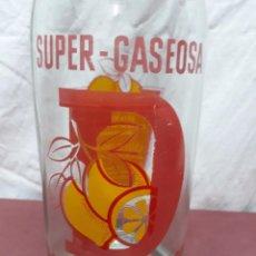 Botellas antiguas: BOTELLA 1 L SUPER GASEOSA DELICIOSA... . Lote 97414051