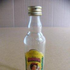 Botellas antiguas: BOTELLIN MINI BOTELLA RON CRIOLLITA DULCE TUNEL. Lote 97825131