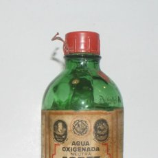 Botellas antiguas: AGUA OXIGENADA FORET- LABORATORIO FORET-BARCELONA- FARMACIA. Lote 98787235