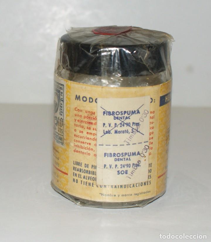 Botellas antiguas: FIBROSPUMA DENTAL- esponjas de gelatina- Laboratorios Morató-Barcelona- Farmacia - Foto 4 - 101099419
