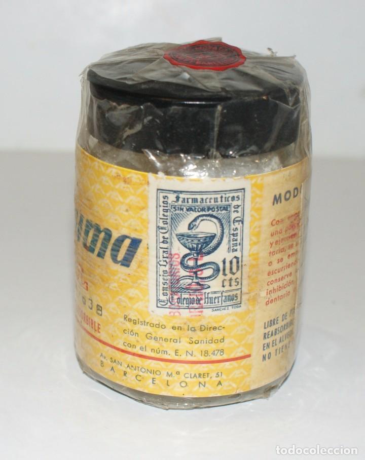 Botellas antiguas: FIBROSPUMA DENTAL- esponjas de gelatina- Laboratorios Morató-Barcelona- Farmacia - Foto 5 - 101099419