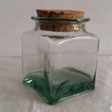 Botellas antiguas: (SEVILLA) TARRO CRISTAL, CON CORCHO. Lote 101976962