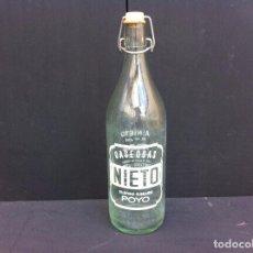 Botellas antiguas: BOTELLA DE GASEOSA (NIETO) POYO-PONTEVEDRA. Lote 104460091