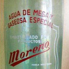 Botellas antiguas: BOTELLA DE GASEOSA, SADABA , ESPUMOSOS MORENO, 1 LITRO. Lote 106168871