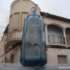 Botellas antiguas: BOTELLA SIFÓN PIRAMIDAL CONRADO ABELLÁN MURCIA.. Lote 110005323