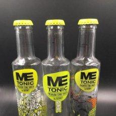 Botellas antiguas: COLECCIÓN DE 3 BOTELLAS DE TÓNICA ME TONIC (VACÍAS). Lote 114113295