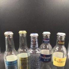Botellas antiguas: COLECCIÓN DE 5 BOTELLAS DE TÓNICA. FEVER TREE, NORDIC, NORDIC BLUE, BLUE TONIC (VACÍAS). Lote 193801803