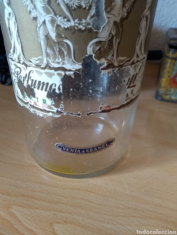 Botellas antiguas: **ANTIGUA BOTELLA CON TAPON DE CRISTAL DE PERFUME PARA VENTA A GRANEL (23/9 cm)** - Foto 3 - 114447618