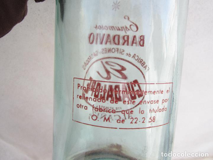 Botellas antiguas: botella de litro de espumosos bardavio , gaseosa el guadalope alcañiz 22-2-1958 - Foto 3 - 115825491