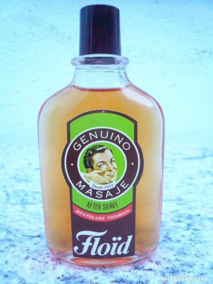 Botellas antiguas: FLOÏD GENUINO MASAJE. BOTELLA DE LOCIÓN AFTER SHAVE. LLENA, 75 ML. TAPÓN DE BAQUELITA - Foto 2 - 122037131