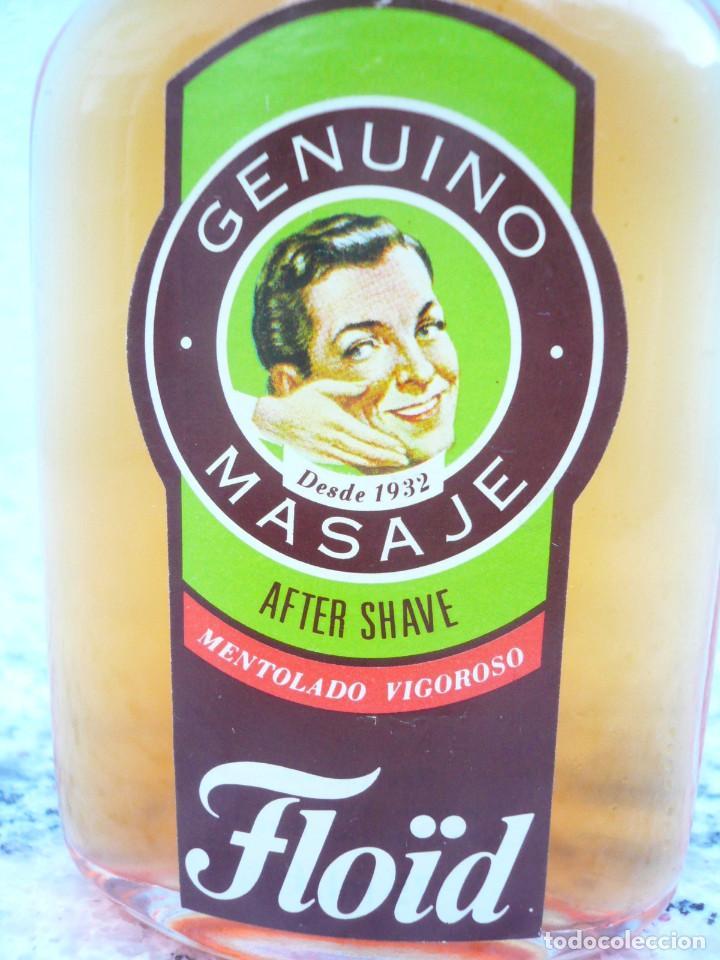 Botellas antiguas: FLOÏD GENUINO MASAJE. BOTELLA DE LOCIÓN AFTER SHAVE. LLENA, 75 ML. TAPÓN DE BAQUELITA - Foto 6 - 122037131