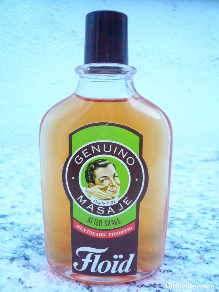 Botellas antiguas: FLOÏD GENUINO MASAJE. BOTELLA DE LOCIÓN AFTER SHAVE. LLENA, 75 ML. TAPÓN DE BAQUELITA - Foto 7 - 122037131
