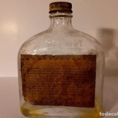 Botellas antiguas: BOTELLA ANTIGUA ACEITE MINERAL NUJOL. Lote 116974943
