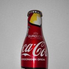 Botellas antiguas: COCA COLA EURO 2012. MODELO VAMOS BOTELLA ALUMINIO MONOBLOCK. SIN ABRIR. Lote 117481327
