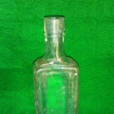 Botellas antiguas: MUY ESCASA BOTELLA DE CRISTAL ELIXIR MEDICINAL NYRDAHL. Lote 119407471