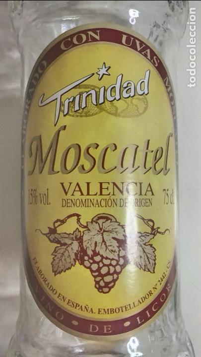 Botellas antiguas: BOTELLA ANTIGUA DE MOSCATEL. TRINIDAD. VALENCIA. 75 CL - Foto 6 - 120091247
