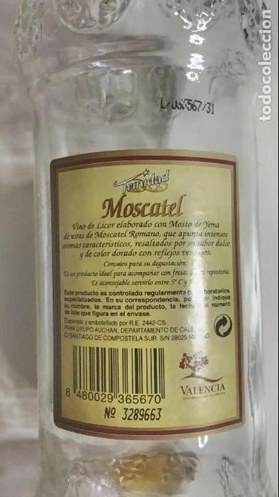 Botellas antiguas: BOTELLA ANTIGUA DE MOSCATEL. TRINIDAD. VALENCIA. 75 CL - Foto 7 - 120091247
