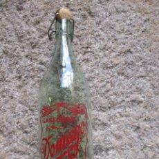 Botellas antiguas: GASEOSA LITRO:' DOMAYO ',PONTEVEDRA, TAPON PASTA DE OTRA MARCA, FTE Nº 5758, LIMPIA, LA DE LA FOTO . Lote 120859703