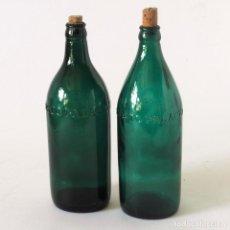 Botellas antiguas: 2 BOTELLAS ANTIGUAS DE MOSTO PALACIO CON EL NOMBRE EN RELIEVE. Lote 121339067