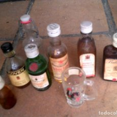 Botellas antiguas: LOTE DE MINI BOTELLAS DE LICORES. Lote 127664487