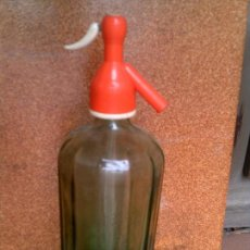 Botellas antiguas: BOTELLA DE SIFON CRISTAL OSCURO. Lote 127891523