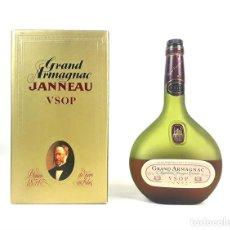 Botellas antiguas: BOTELLA GRAND ARMAGNAC. JANNEAU VSOP. 70 CL. FRANCIA. CIRCA 1970.. Lote 129208027