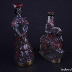 Botellas antiguas: ANIS. DESTILERIAS NOGUERAS COMAS, BARCELONA. PAREJA DE BOTELLAS. Lote 131511846