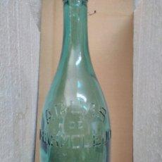 Botellas antiguas: BOTELLA LITRO AGUA MARMOLEJO. Lote 134898529