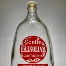 Botellas antiguas: ANTIGUA BOTELLA DE ACEITE BALSOLIVA, CARTAGENA . Lote 135267914