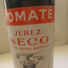 Botellas antiguas: BOTELLA VACÍA ROMATE JEREZ SECO TIPO ORO. Lote 135561715