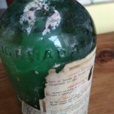 Botellas antiguas: AGUA OXIGENADA FORET LLENA. Lote 136754754