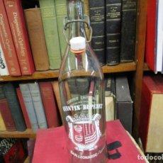Botellas antiguas: BOTELLA GASEOSA LITRO ' SAN LEONARDO` DE SORIA - TAPON CERAMICO SIN MARCA. LIMPIA.. Lote 139563562