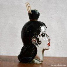 Botellas antiguas: PRECIOSA BOTELLA DE LICOR NOGUERAS COMAS * FLAMENCA * CARMEN * CABEZA MUJER * 21CM ALTO. Lote 140418582