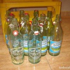 Botellas antiguas: LOTE DE 10 BOTELLAS DE ESPUMOSOS AZAFOR. VILLALONGA. EN SU CAJA. Lote 140743850