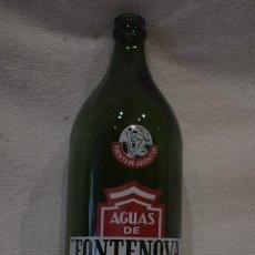 Botellas antiguas: BOTELLA SERIGRAFIA AGUA FONTENOVA AGUAS DE VERIN 1L. JOSE ORTEGA Y GASSET MADRID. Lote 140818678