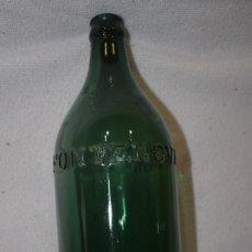 Botellas antiguas: BOTELLA AGUA FONTENOVA AGUAS DE VERIN 1L. LETRAS RELIEVE. Lote 140818870