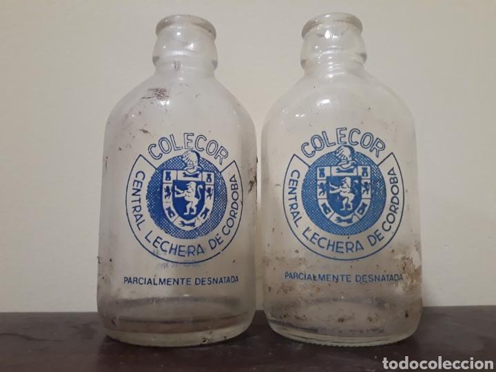 BOTELLAS LECHE COLECOR (Coleccionismo - Botellas y Bebidas - Botellas Antiguas)